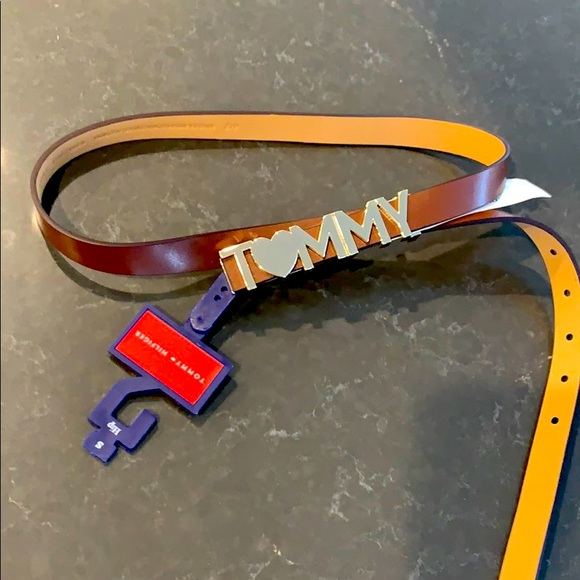 🔥 NWT brown leather Tommy belt